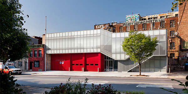 Michielli + Wyetzner Architects design a new home for EMS Dispatch in the burgeoning neighborhood of Williamsburg, Brooklyn. Greenpoint EMS Station.